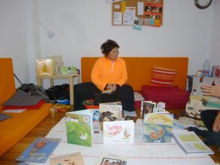 Carmen en el taller