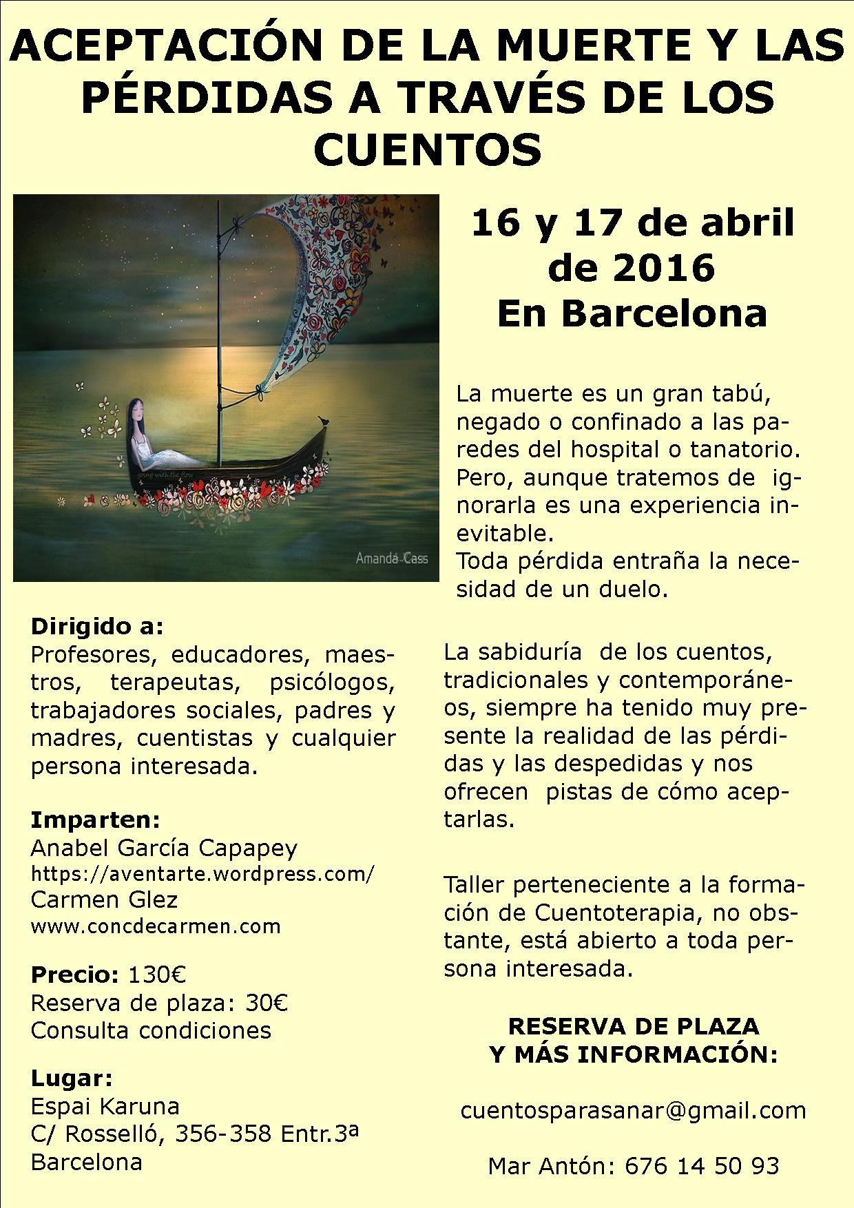 Muerte 16y17 abril 2016 Barcelona
