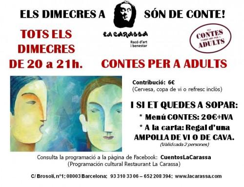Contes per a adults a La Carassa