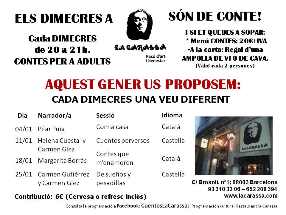 Contes Carassa. Gener 2017
