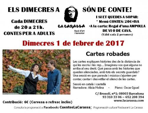 Contes Carassa – 1 febrer 2017